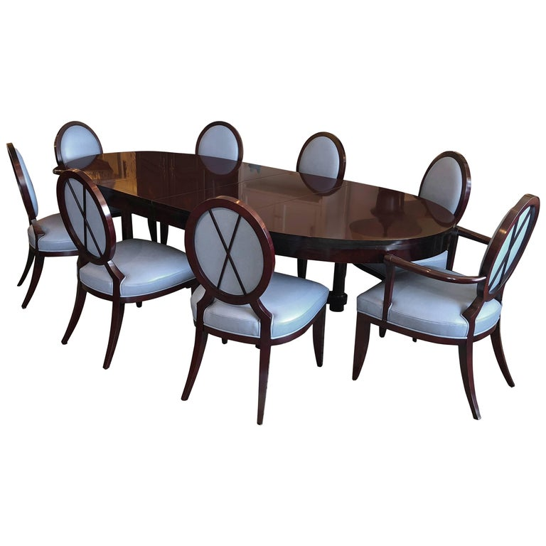 Baker Furniture Barbara Barry Oval Dining Table And Chairs