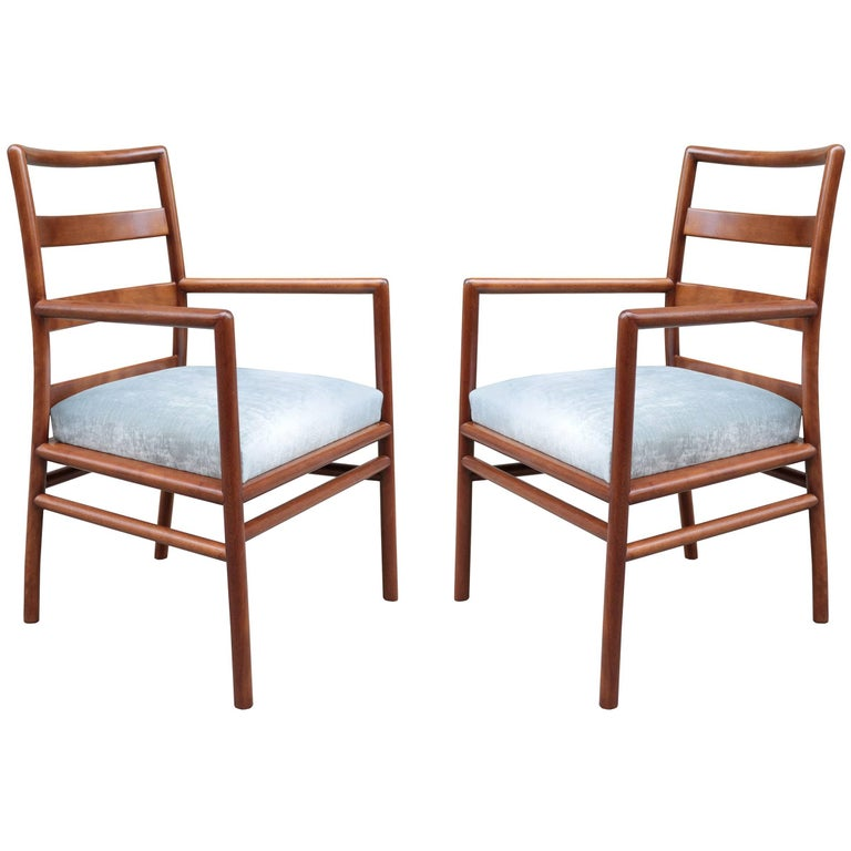 Pair of Widdicomb Armchairs Designed by T.H. Robsjohn-Gibbings