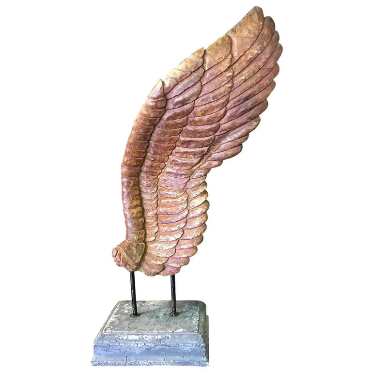 large ceramic angel wing sculpture at 1stdibs