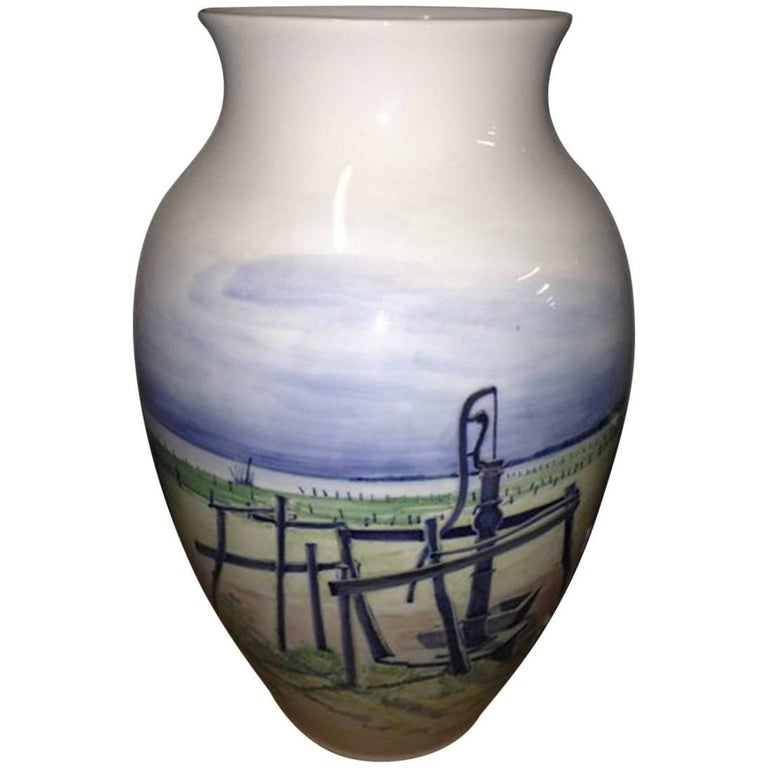 Royal Copenhagen Unique Vase by Lars Swane For Sale