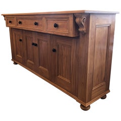 Custom English Country Pine Credenza