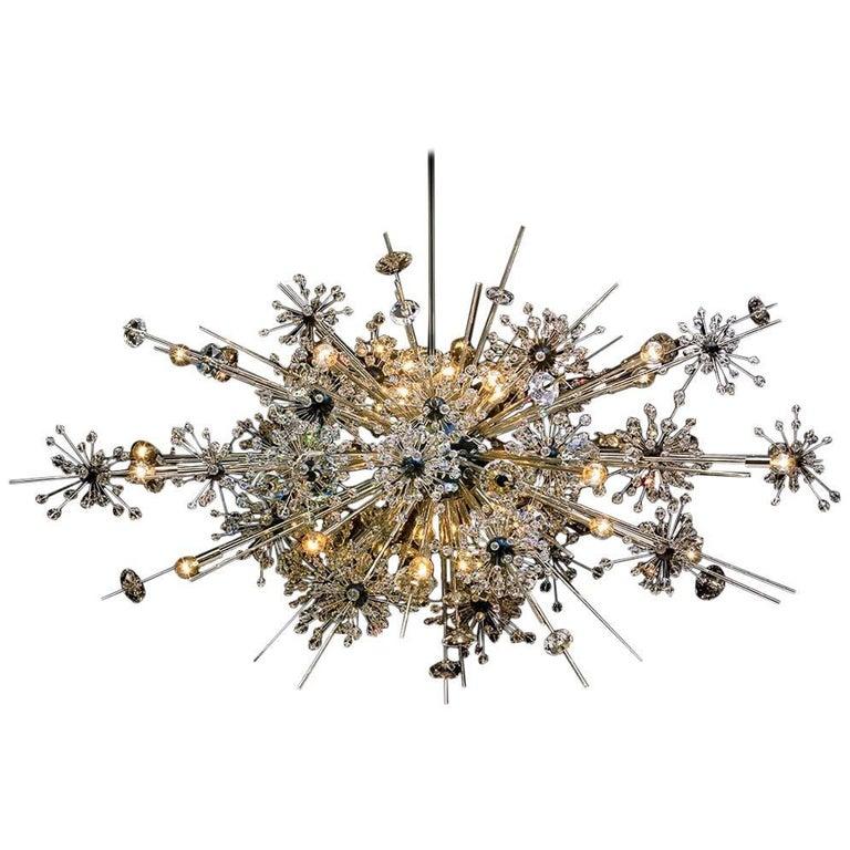 Lobmeyr Metropolitan Opera Crystal Chandelier Foyer L36, Mid-Century Modern For Sale