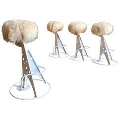 Set of Four Post Modern Bar Stools