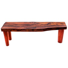"""Imbuia"" Bench in Imbuia Wood, Woodworking and contemporary Brazilian Design"