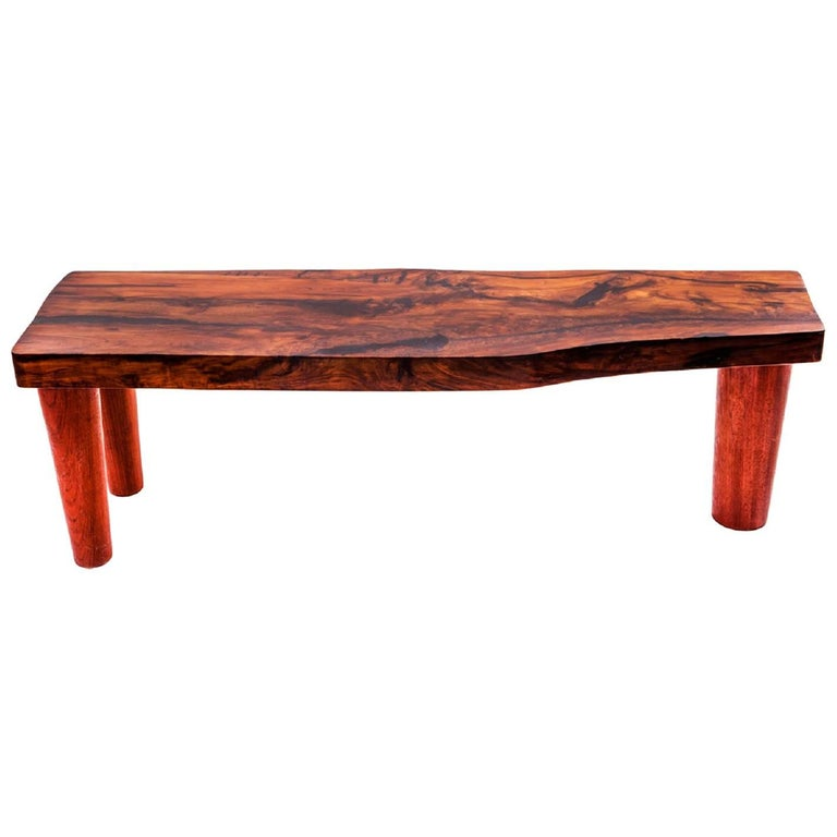 """Imbuia"" Bench in Imbuia Wood, Woodworking and contemporary Brazilian Design"