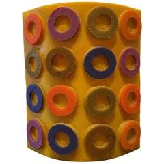 Midcentury Colorful Circle Vase