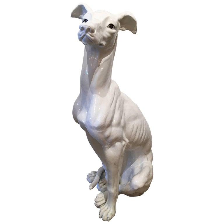 Vintage Ceramic Greyhound