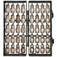 German Herman Walter Metal Chocolate Mold to Make 20 Little Figures
