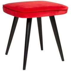Red Vintage Stool, 1960s