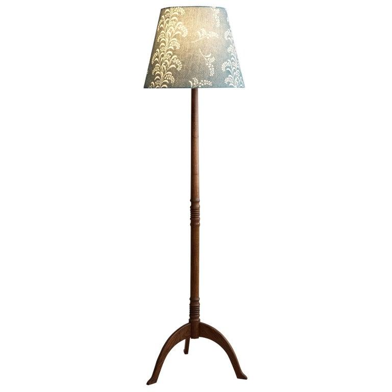 Vintage Wooden Floor Lamp For Sale