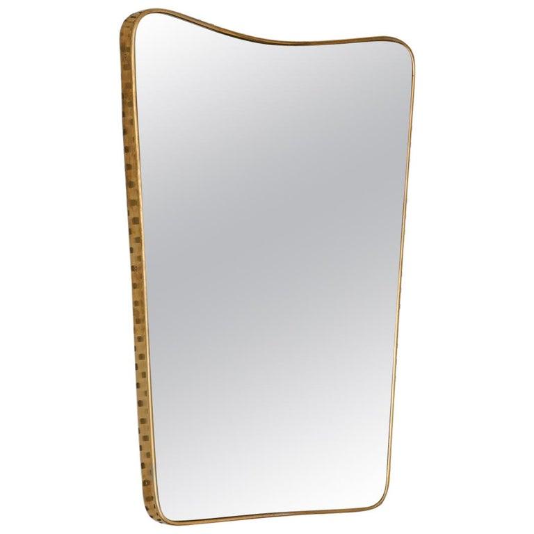 Vintage Italian Brass Mirror