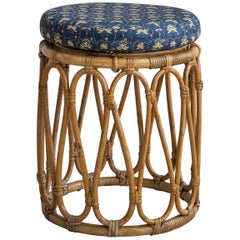 Vintage Bamboo Stool