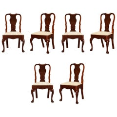 Set of Six 18th Century High Back Dining Chairs