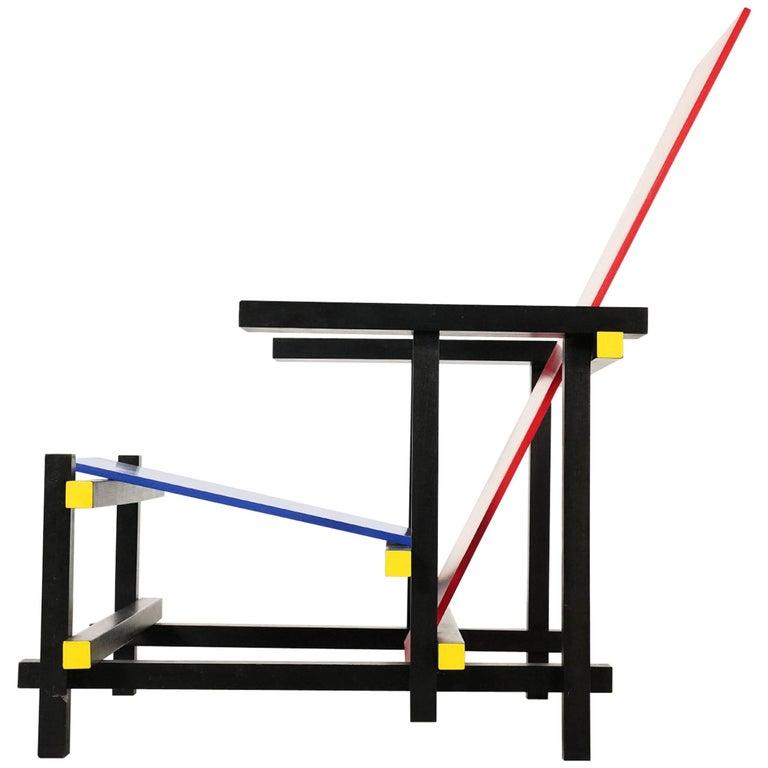 Gerrit Rietveld, Red Blue Chair, True-to-Scale Replica, 1970