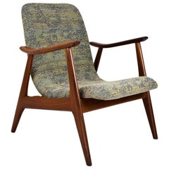 Mid-Century Modern Lounge Chair by Louis Van Teeffelen 1950s