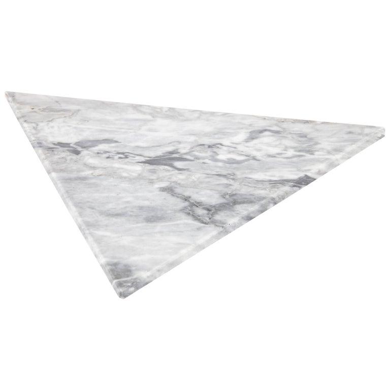 Triangular White Marble Cutting Board And Serving Tray For