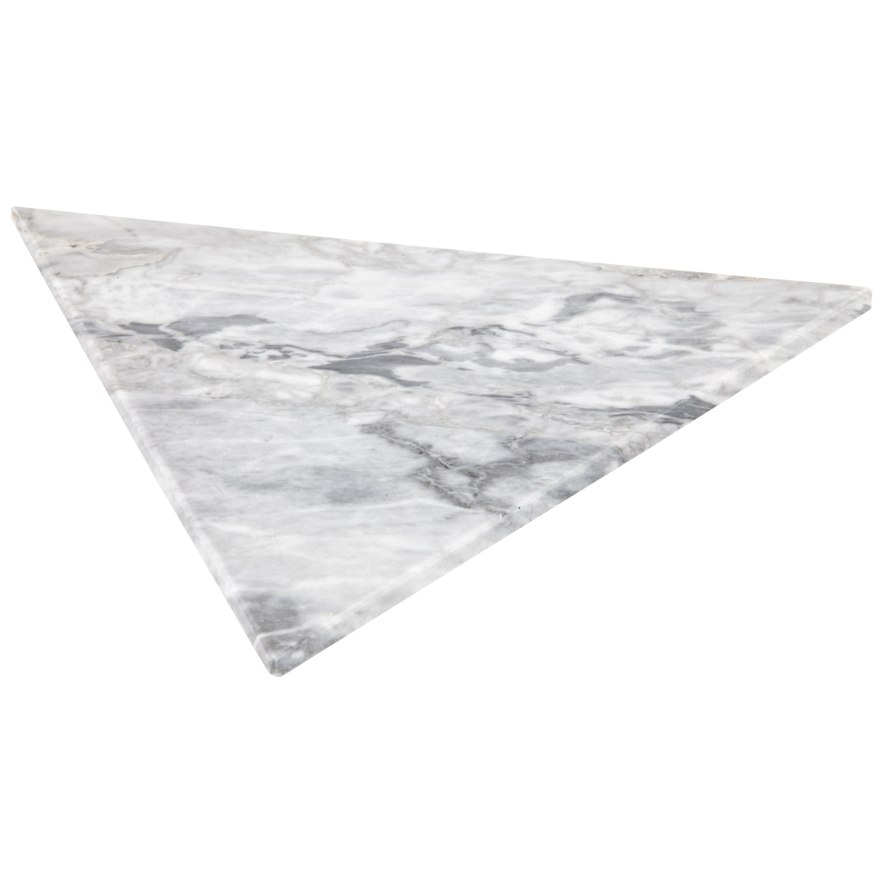 Triangular White Marble Cutting Board and Serving Tray