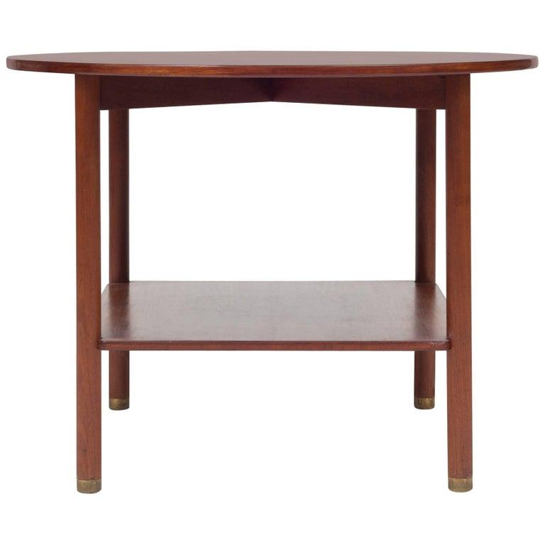 Round Coffee Table in Cuban Mahogany, Maker Rud. Rasmussen