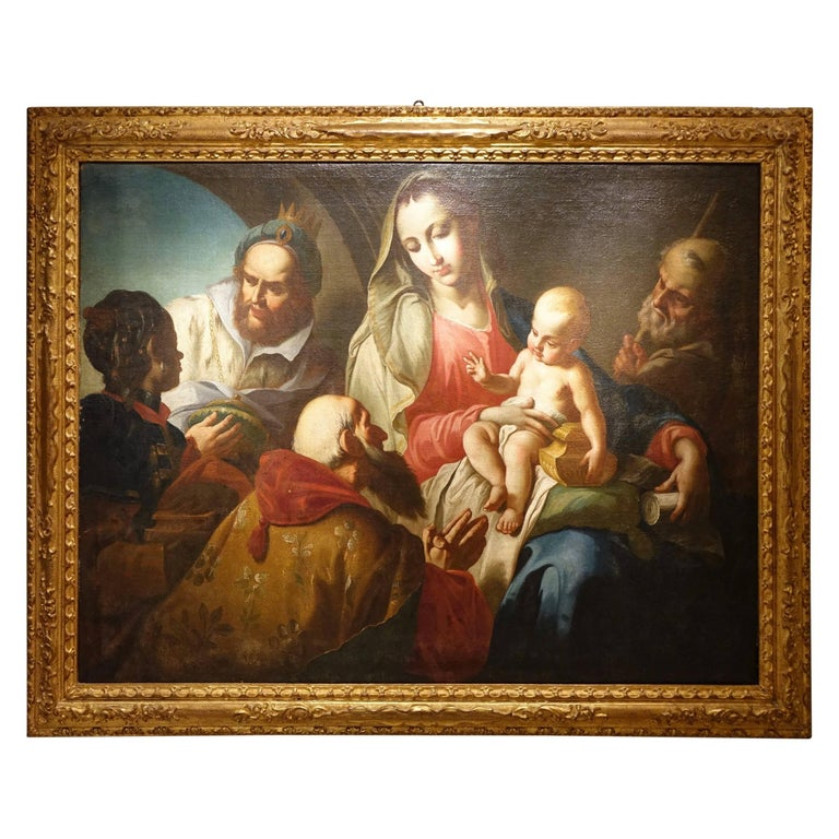 Adoration of the Magi, An  Early 18th Century Venetian School Painting  For Sale