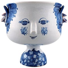 Bjørn Wiinblad Unique Ceramic Vase, the Blue House, Own Studio