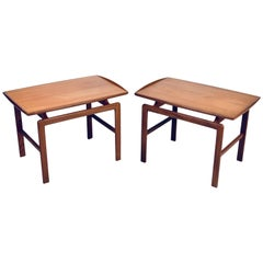 Birgitta Waldonen, a Pair of Side Tables in Teak, Finland, 1966
