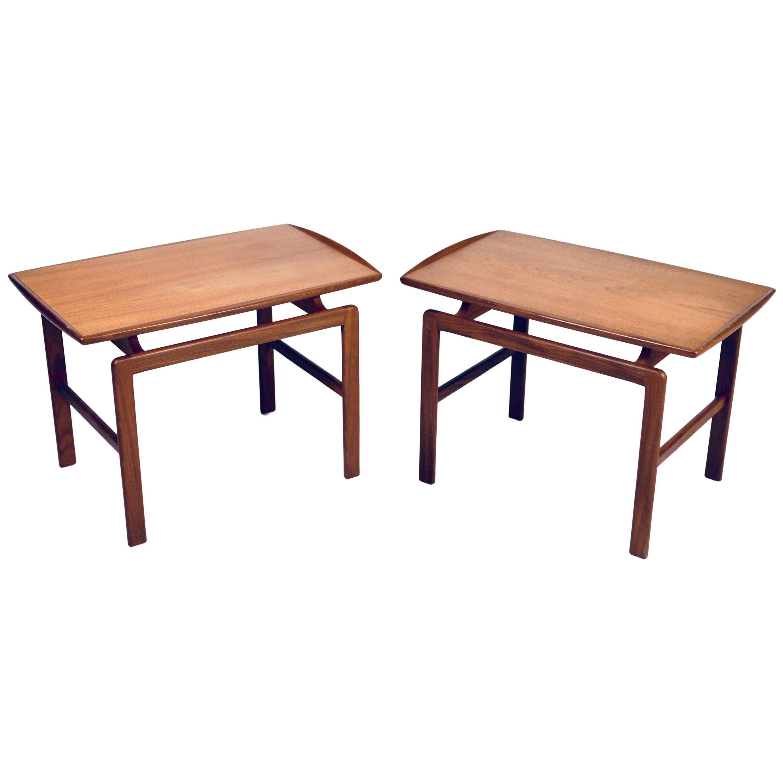 Birgitta Waldonen, a Pair of Side Tables in Teak, Finland, 1966