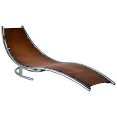 Daybed Scandinavian Modern Design by Albin Love Lindgren Series 0. ¼, Cognac