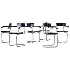 Six Model 262 Cantilever Chairs by Mart Stam for Thonet, circa 1935