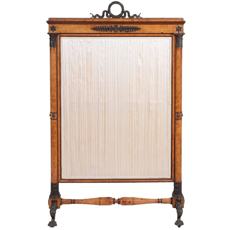 19th Century French Empire Fire Screen For Sale