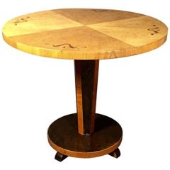 1930s Swedish Mahogany Side Table with Intarsia
