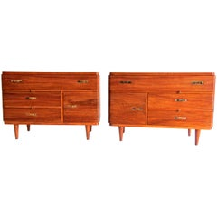 "Important Pair of Gio Ponti ""Rigato"" Cabinets, 1940-1941"