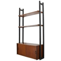 Mid-Century Modern Wall Unit in Teak 1950s for Simpla Lux Dutch Design