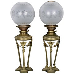 Pair of Beautiful Angel Lamps