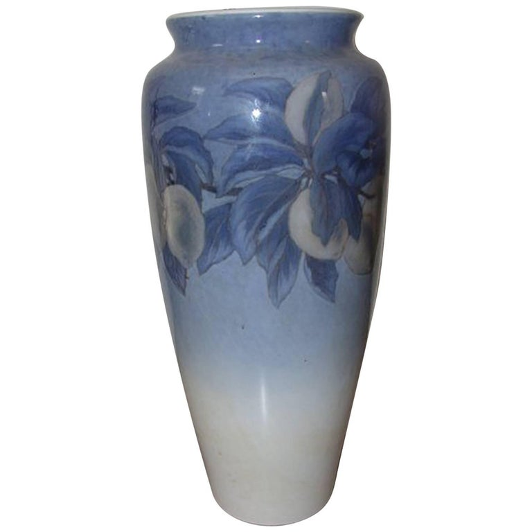Royal Copenhagen Unique Vase with Citrusfruits by Catharina Zernichow For Sale