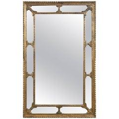 Giltwood Frame Italian Mirror, circa Mid-20th Century