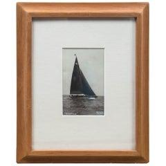 """Framed Vintage Photograph """"Evenlode"""", Beken of Cowes, England, circa 1930s"""
