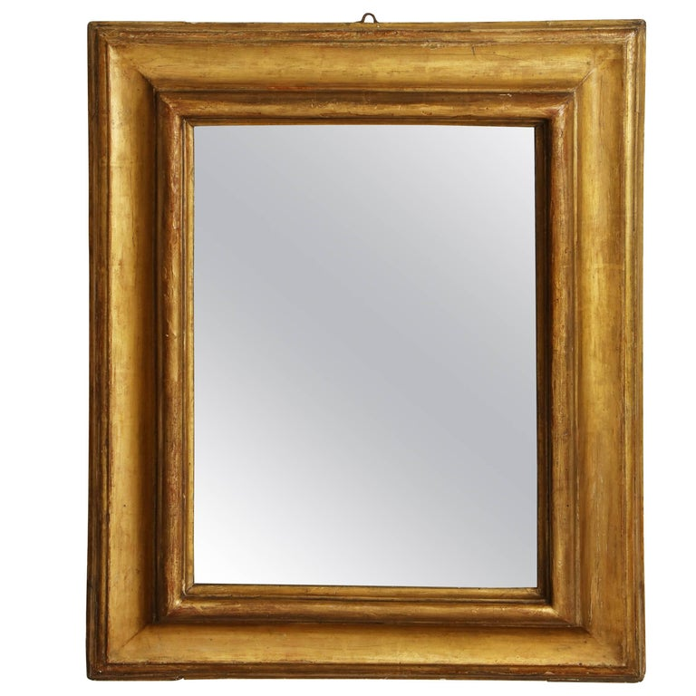 17th Century Italian Giltwood Wall Mirror