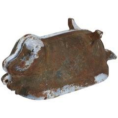 Rare Cast Iron Pig-Form Mold