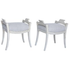 Pair of Gustavian Style Benches