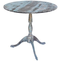 Painted Tripod Pedestal Table