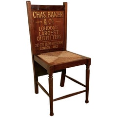 Victorian Bedroom Chair and Trouser Press, Gentleman's Outfitter Shop Display