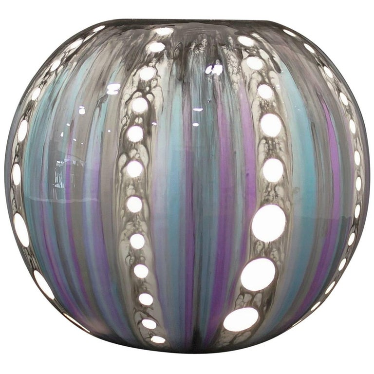 Ceramic Porcelain Contemporary Table Lamp in Colored Resin