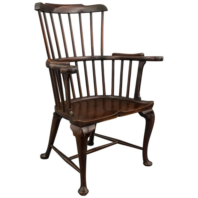 George III Mahogany Windsor Armchair