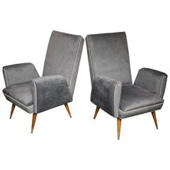 Pair of Vintage Italian Floating Arm chairs