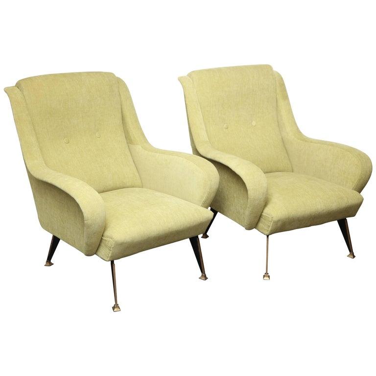 Pair of Vintage Italian Midcentury Armchairs