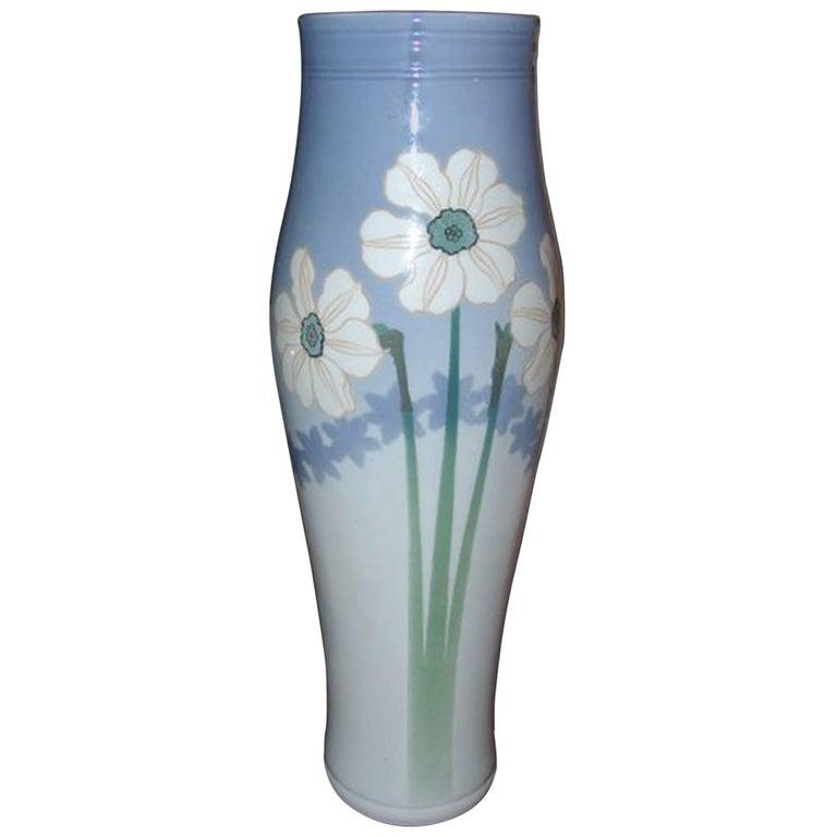 Royal Copenhagen Unique Vase by Anna Smidth #8486 For Sale