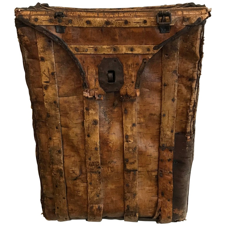 "19th Century Swedish Birchwood ""Back Pack"""