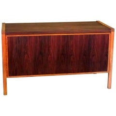 Danish Mid-Century Modern Rosewood and Birch Desk, 1960s