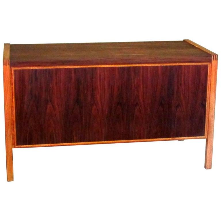 1960s Jacaranda Rosewood & Teak Desk Mid-Century Modern Columbia South America