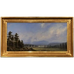 William R. Davis Landscape Oil Painting of the White Mountains, Artist at Work